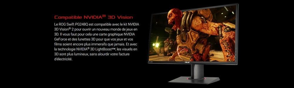 écran asus pg248q nvidia 3d vision