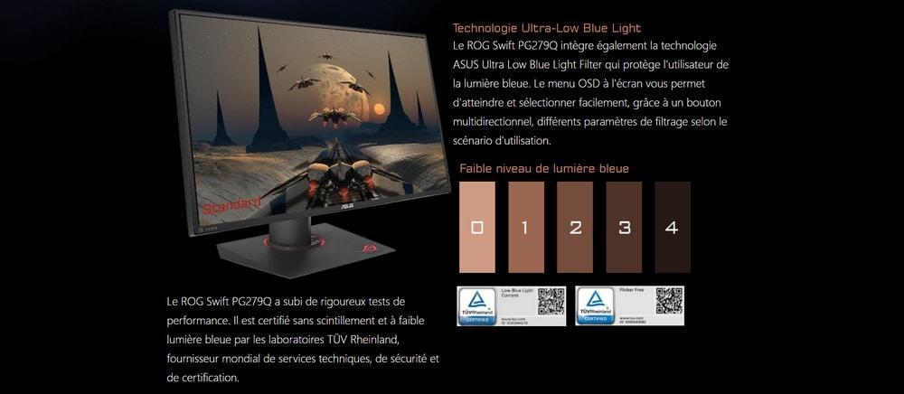écran asus pg279q blue light