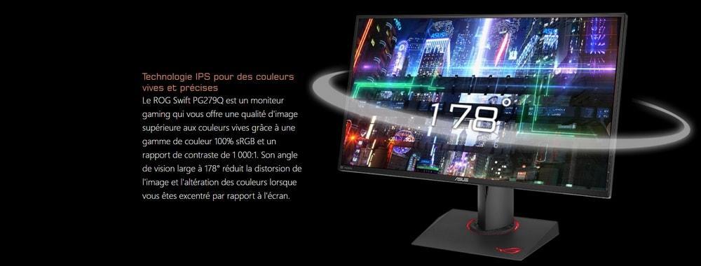 écran asus pg279q couleurs