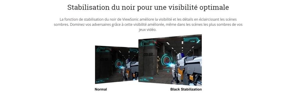 écran viewsonic vx2257 stabilisation