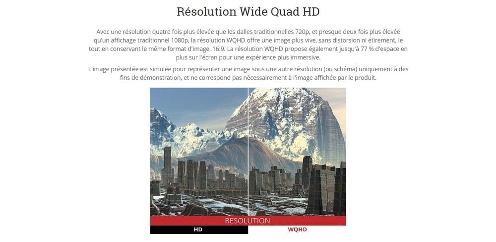 écran viewsonic xg2703 gs résolution