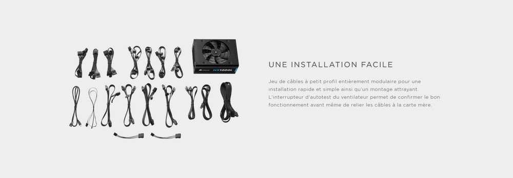 alimentation corsair hx1200i 80plus installation