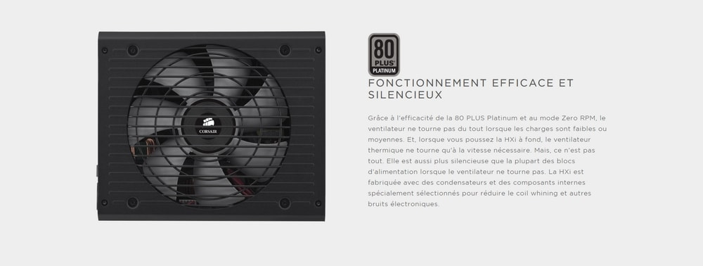 alimentation corsair hxi certification