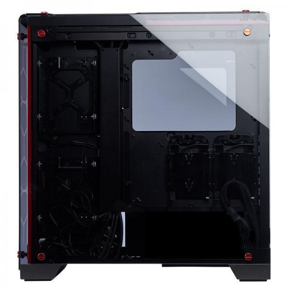 boitier corsair crystal 570x rouge rgb