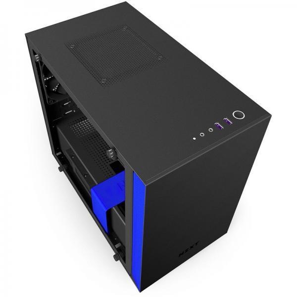 boitier NZXT H200 Noir-Bleu