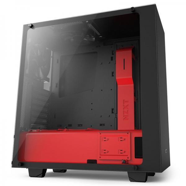 boitier nzxt s340 elite noir rouge