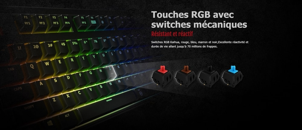 clavier asus cerberus mech rgb switchs
