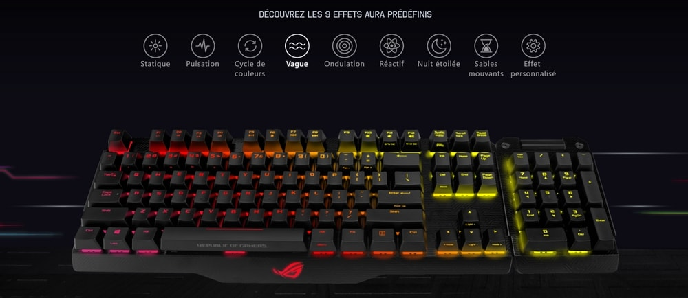 clavier asus rog claymore rgb retroeclairage