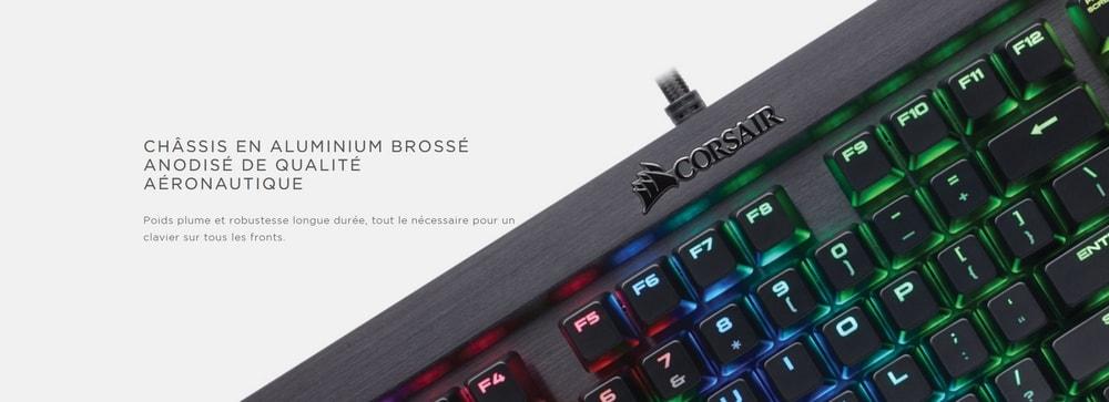 clavier corsair gaming k70 lux rgb aluminium