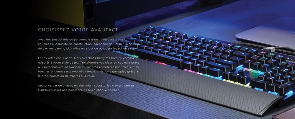 clavier corsair gaming k70 lux rgb