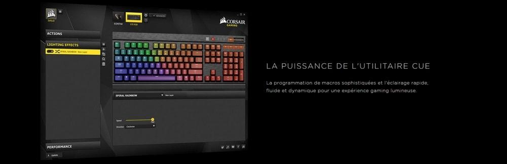 clavier corsair gaming k70 lux rgb cue