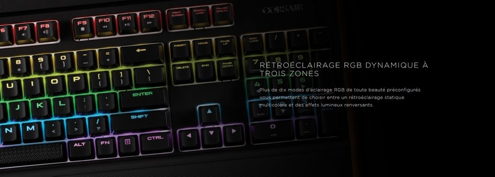 clavier corsair k55 rgb retroeclairage