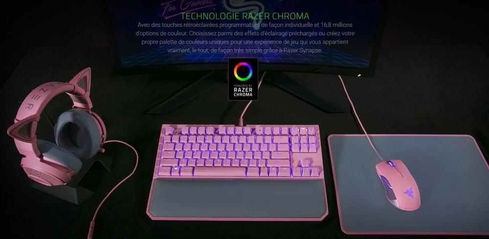 clavier razer blackwidow tournament edition chroma v2 touches verts chroma