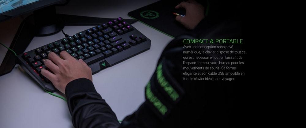 clavier razer blackwidow tournament edition chroma v2 touches verts compact