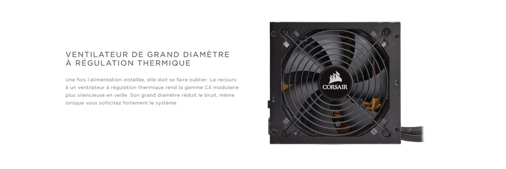 corsair cx550m 80plus bronze ventilateur