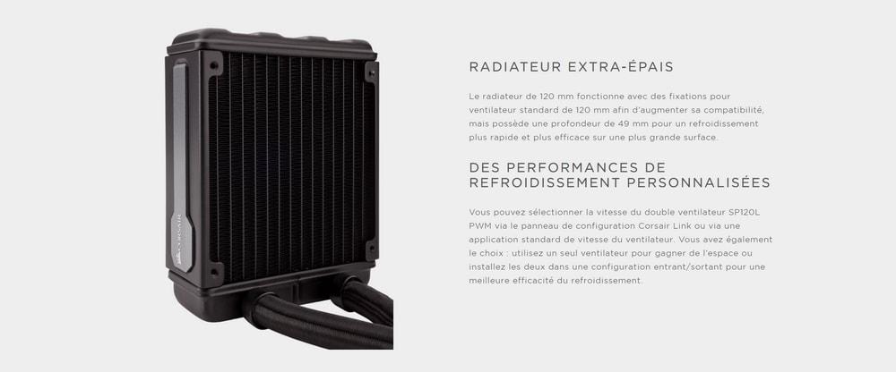 corsair hydro series h80i v2 radiateur
