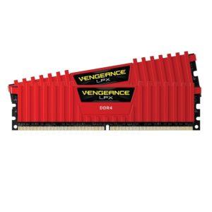 memoire corsair Vengeance LPX Rouge 8Go (2 x 4Go) DDR4 3000MHz CL15