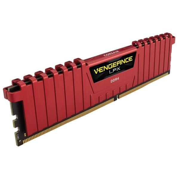 memoire corsair vengeance lpx rouge series low profile 16go 2x 8go ddr4 3200mhz cl16