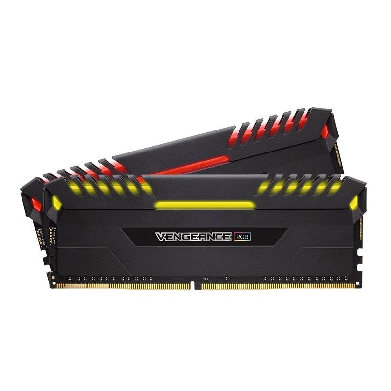 memoire corsair vengeance rgb Series RGB 16Go (2x8Go) DDR4 2666MHz CL16