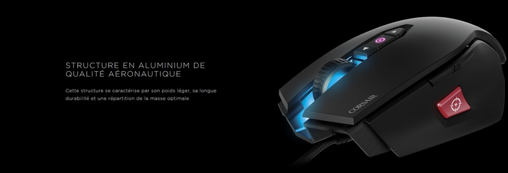 souris corsair gaming m65 pro rgb structure
