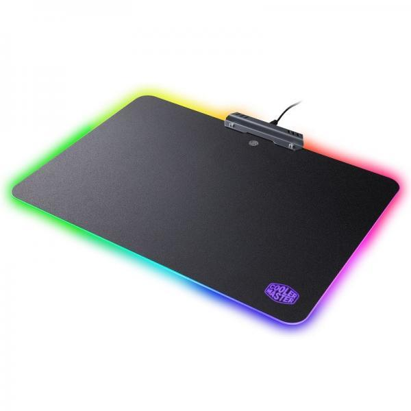 tapis de souris cooler master rgb hard gaming