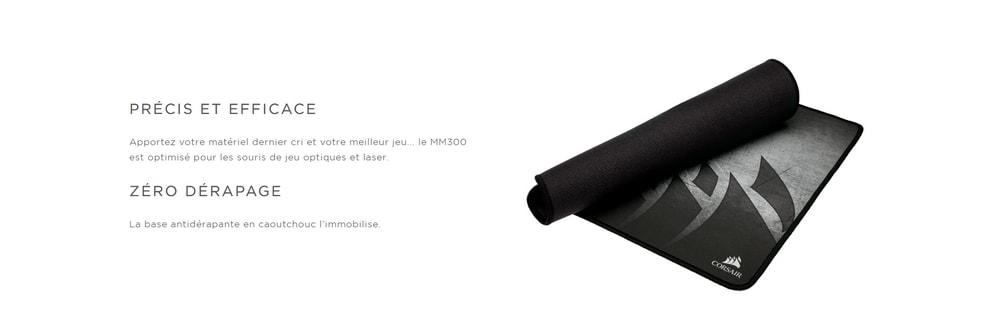 tapis de souris corsair gaming mm300 precis
