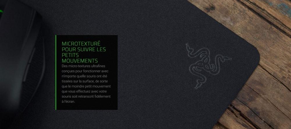 tapis de souris razer goliathus mobile stealth edition microtexture