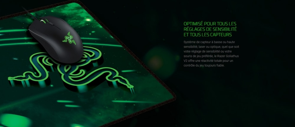 tapis de souris razer goliathus speed cosmic optimise