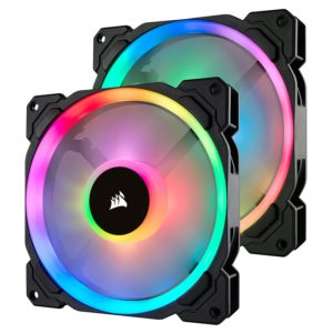 ventilateur corsair ll series ll140 rgb dual pack