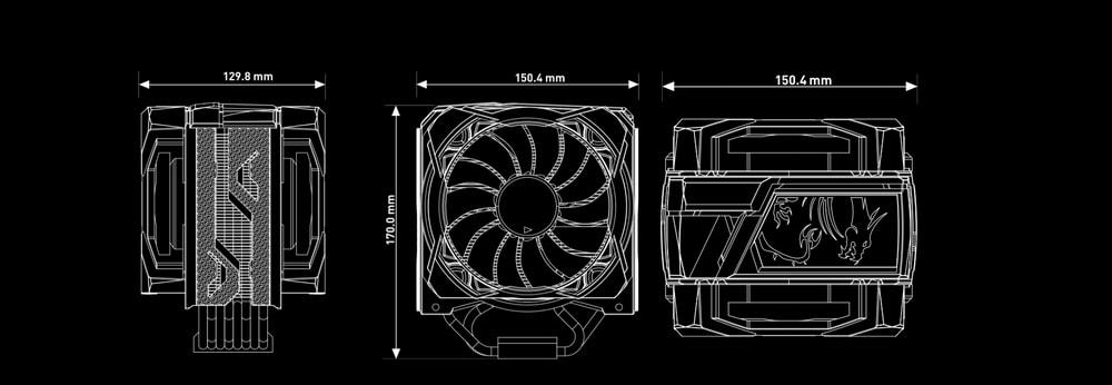 ventirad msi core frozr xl dimensions
