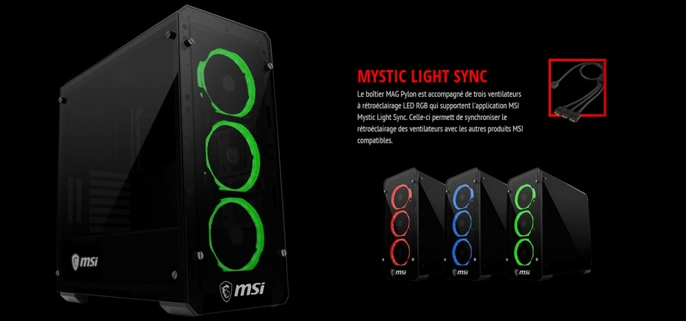 boitier msi mag pylon mystic light