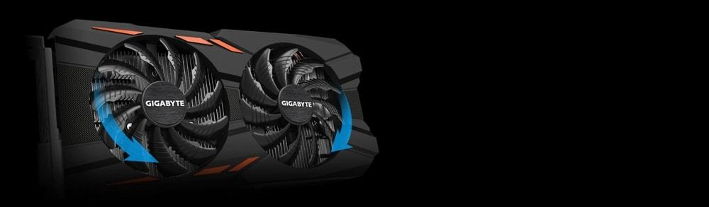 cgu gigabyte geforce gtx 1050 ti windforce oc 4go fan