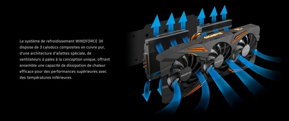 cgu gigabyte geforce gtx 1070 g1 gaming refroidissement