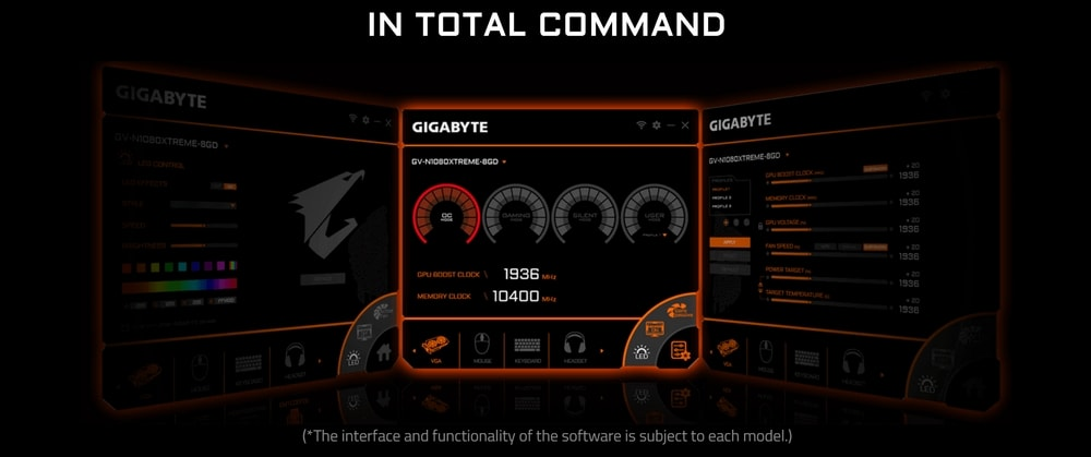cgu gigabyte geforce gtx 1080 ti gaming oc black 11go logiciel