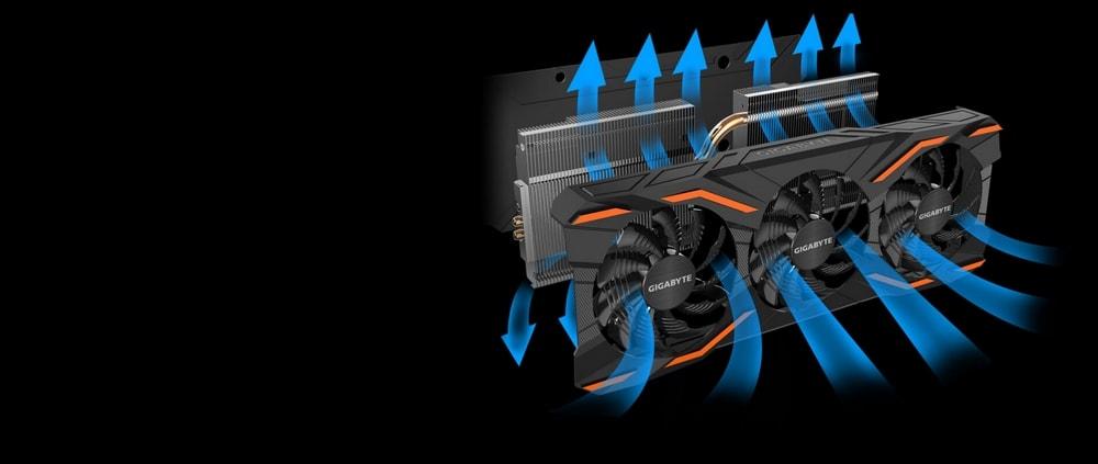cgu gigabyte geforce gtx 1080 windforce oc refroidissement
