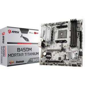 carte mere msi b450m mortar titanium