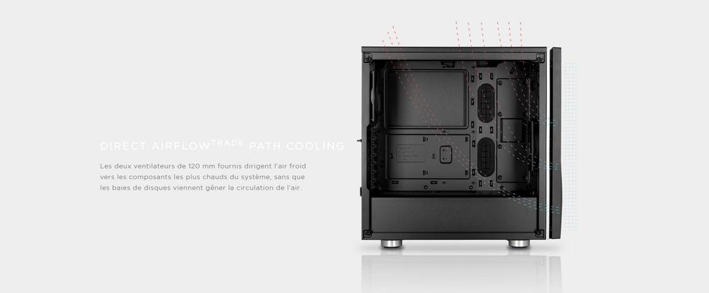 boitier corsair carbide spec-06 rgb tg refroidissement