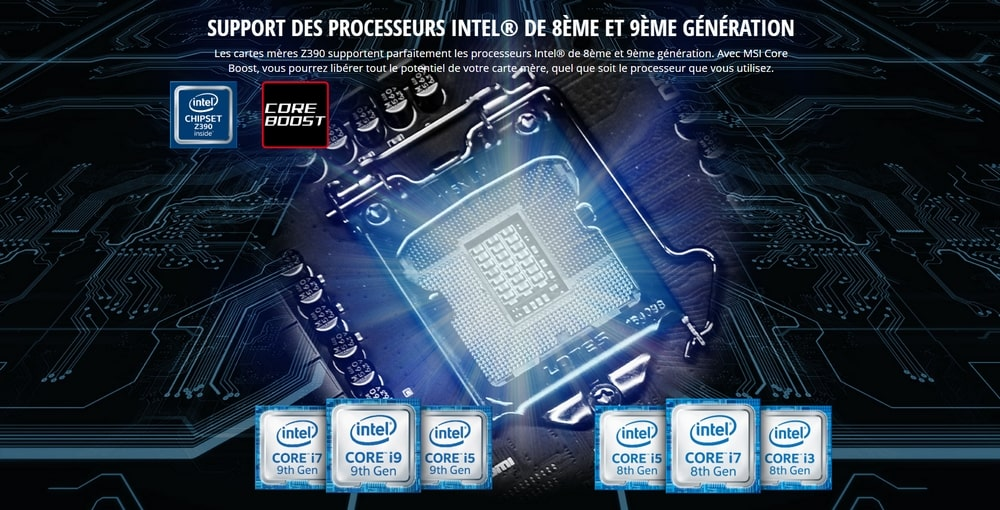carte mere intel z390 processeurs
